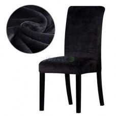 Чехол на кухонный стул микрофибра Homytex Черный