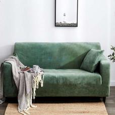 Чехол на диван HomyTex двухместный Замшевый Ментол