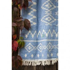 Покрывало Barine - Kilim Throw Blue 130*170 голубой